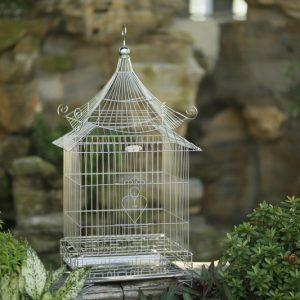 Lồng chim inox mái chùa