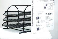 Kệ sách màu đen 3 tầng để bàn