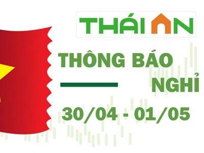 Thông báo nghỉ lễ 30/4 và 1/5 của Inox Thái An.